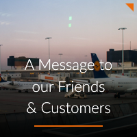 A Message to our Friends and Customers A-ICE airport operations